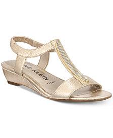 Anne Klein Melessa Embellished Wedge Sandals