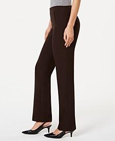 Tummy-Control Pull-On Straight-leg Pants, Created for Macy's