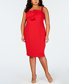Love Squared Trendy Plus Size Bow-Front Dress