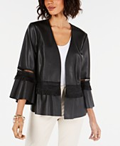 393501315b5cd Faux Leather Jackets for Women - Macy s
