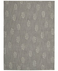 "Calvin Klein Home Area Rug, CK11 Loom Select Neutrals LS13 Pondicherry Granite 7'9"" x 10'10"""