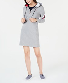 Tommy Hilfiger Varsity Hoodie Sweatshirt Dress