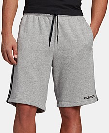 "Essentials Men's Three-Stripe 10"" Fleece Shorts"