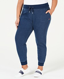 Tommy Hilfiger Sport Plus Size Cotton Relaxed-Fit Jogger Pants