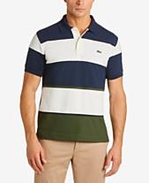 ed86186b7 Lacoste Men s Classic-Fit Colorblocked Stripe Technical Piqué Polo