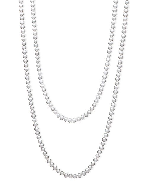 Belle de Mer 54 inch Cultured Freshwater Pearl Strand Necklace (7-8mm)