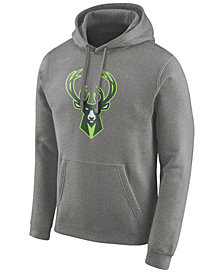 Nike Men's Milwaukee Bucks Earned Edition Logo Essential Hoodie