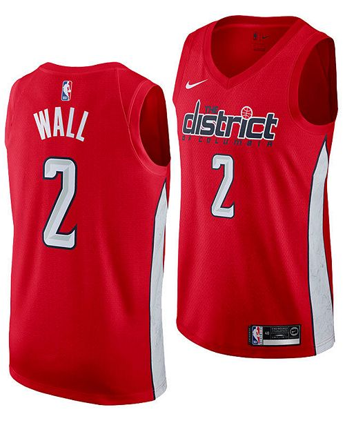 0a7003fd8 ... Nike Men s John Wall Washington Wizards Earned Edition Swingman Jersey  ...