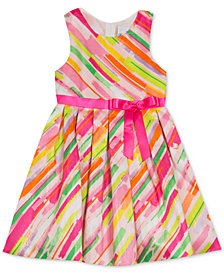 Rare Editions Little Girls Printed Fit & Flare Dress