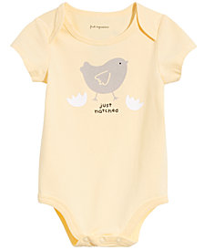 First Impressions Baby Boys or Girls Just Hatched Graphic Bodysuit, Created for Macy's