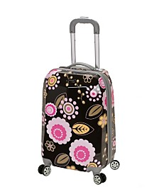 "Rockland Pink Flowers 20"" Hardside Carry-On"