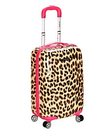 "Rockland Leopard 20"" Hardside Carry-On"