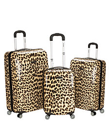 Rockland 3-Piece Leopard Polycarbonate or ABS Upright Set