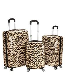 Rockland 3PCE Leopard Hardside Upright Set