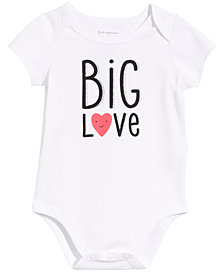 First Impressions Baby Girls or Boys Big Love Graphic Bodysuit, Created for Macy's