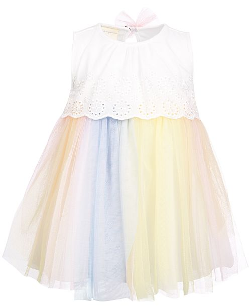 6c4ffd88c48 ... First Impressions Baby Girls Eyelet   Tulle Dress