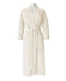 100% Turkish Cotton Pleated Robe, Large