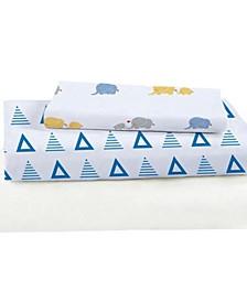 Viscose From Bamboo Triangles Crib Sheet Set