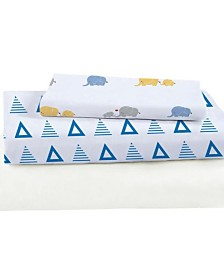Triangles Bamboo Viscose Crib Sheet Set