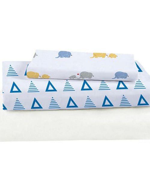 IGH Global Corporation Triangles Bamboo Viscose Crib Sheet Set