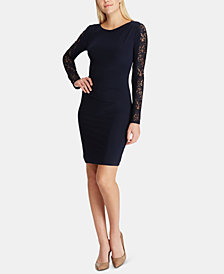 Lauren Ralph Lauren Petite Sequin-Sleeve Dress