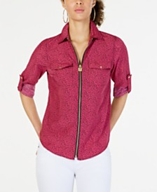 e91461e877906 Michael Kors Printed Utility Shirt, in Regular & Petite Sizes ...
