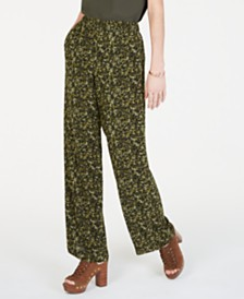 MICHAEL Michael Kors Printed Pull-On Pants