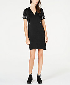 MICHAEL Michael Kors MKGO Logo-Sleeve Hoodie Dress, In Regular and Petites