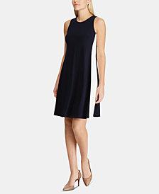 Lauren Ralph Lauren Petite Two-Tone Dress