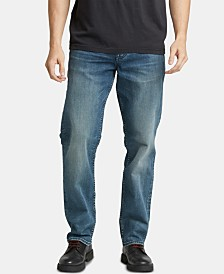 Silver Jeans Co. Men's Hunter Loose Athletic-Fit Stretch Jeans