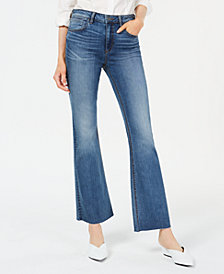 Kut from the Kloth Stella Raw-Hem High-Rise Flare Jeans