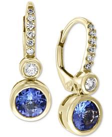 EFFY® Tanzanite (9/10 ct. t.w.) & Diamond (1/10 ct. t.w.) Drop Earrings in 14k Gold