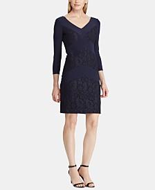 Lauren Ralph Lauren Petite Lace-Trim Jersey Dress