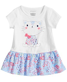First Impressions Baby Girls Floral Cat Peplum Tunic, Created for Macy's