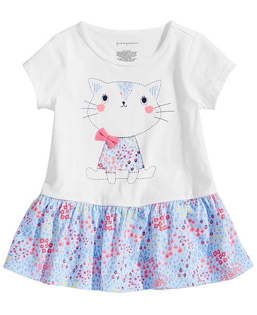 c74efc1ac0672 First Impressions Toddler Girls Cat Graphic Peplum Tunic, Created for Macy's