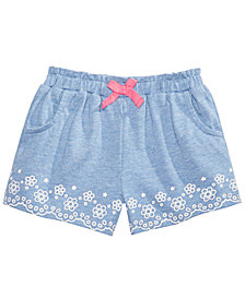 First Impressions Baby Girls Floral Border Shorts, Created for Macy's