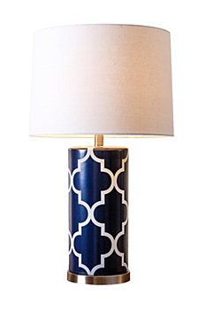 Abbyson Living Harper Lattice Table Lamp