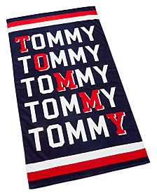 "CLOSEOUT! Tommy Hilfiger Tommy Angles Cotton 35"" x 66"" Beach Towel"