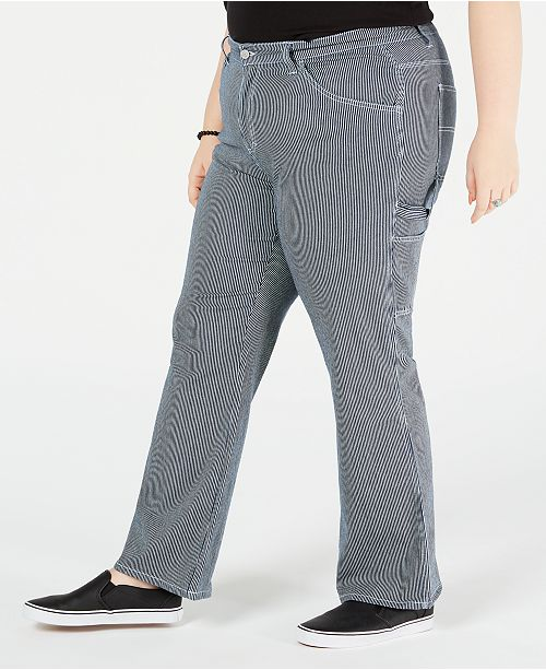 857e3a66d58 Dickies Trendy Plus Size Striped Carpenter Pants   Reviews ...