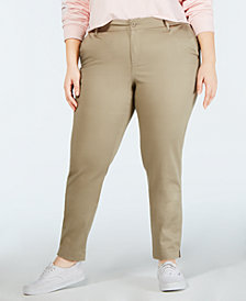 Dickies Plus Size Skinny Ankle Pants