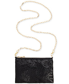 I.N.C. Demir Mesh Convertible Belt Bag, Created for Macy's