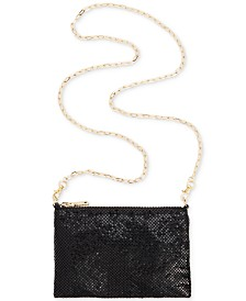 I.N.C. Demir Shiny Mesh Convertible Belt Bag, Created for Macy's