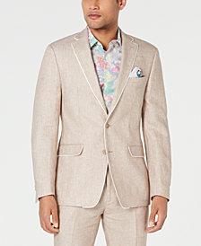 Tallia Men's Slim-Fit Tan Birdseye Suit Jacket