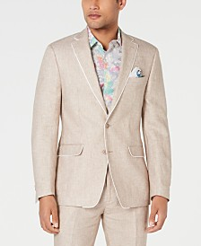 Tallia Men's Slim-Fit Tan Birdseye Suit Jacket
