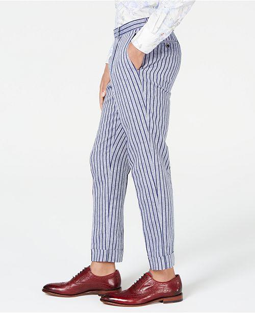 pourAvis rayures pour Pantalon Pantalons a hommescree Bleu Hommes Tallia 76yYbgf