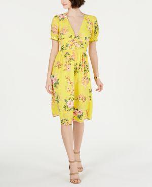 Image of 19 Cooper Floral-Print Shift Dress