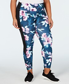 Ideology Plus Size Printed Leggings, Created for Macy's