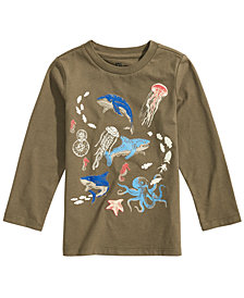 Epic Threads Little Boys Glow in the Dark Sea Life Graphic T-Shirt, Created for Macy's