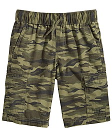 Big Boys Camo-Print Cotton Cargo Shorts, Created for Macy's