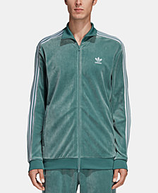 adidas Men's Adicolor Velour Track Jacket